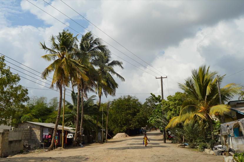 Droga położona w Dar Es Salaam w Tanzanii