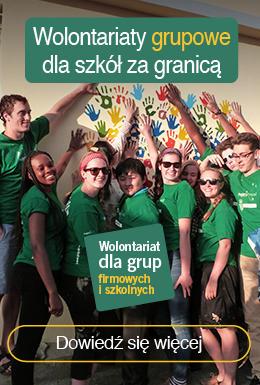 Grupowy wolontariat dla grup zorganizowanych