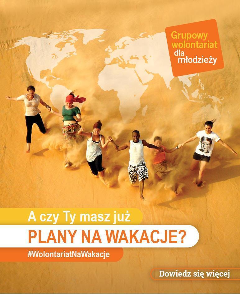 Grupowy wolontariat dla młodzieży za granicą 15-18 lat