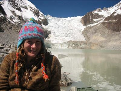 Volunteer travelling on her free time during her project in Bolivia
