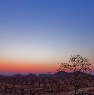 Zachód słońca w Botswanie