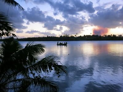 A scenic view of a lake in Fiji.