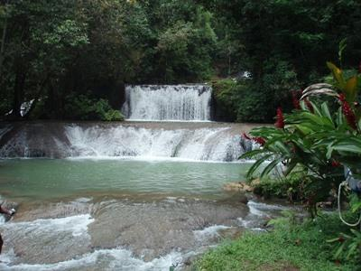 Waterfall near the Projects Abroad volunteer placement in Jamaica