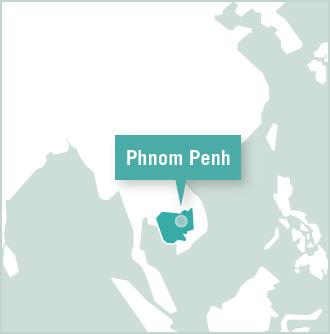 Map of the Projects Abroad volunteer destination in Phnom Penh, Cambodia