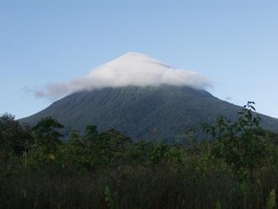 Mountain in the middle of the jungle in Costa Rica, Central America