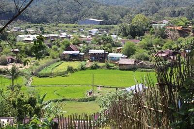 A photograph of Andasibe village in Madagascar, Africa.