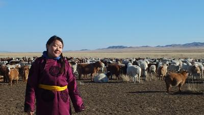 A female Mongolian Nomad