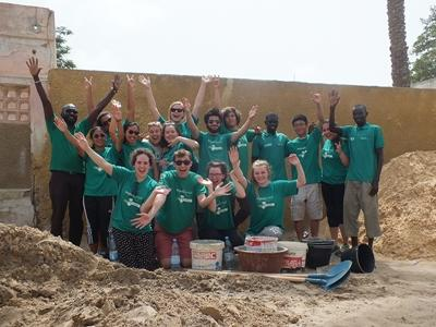 High School Special volunteers pose for a picture on-site in Senegal