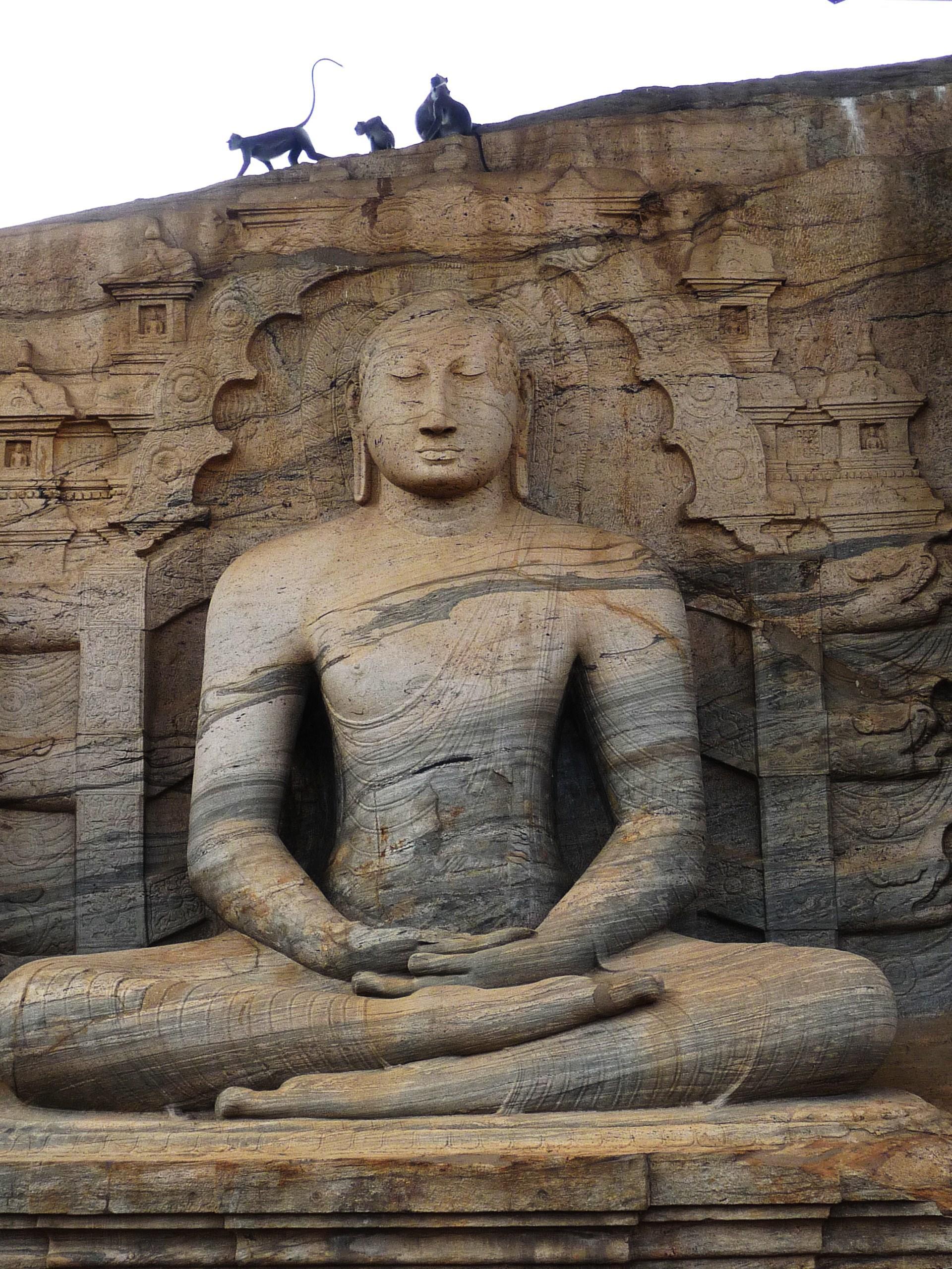 Buddha in Polonnaruwa, Sri Lanka