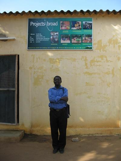 Projects Abroad staff member outside of the local office in Lome, Togo
