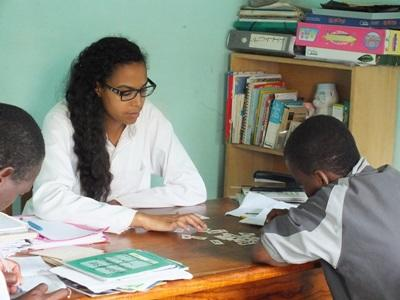 Togolese children receive speech therapy from a Projects Abroad intern