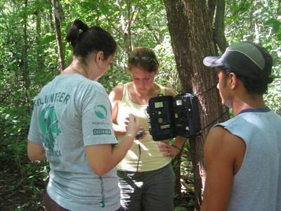 Volunteers survey natural lands in Costa Rica on the Conservation project
