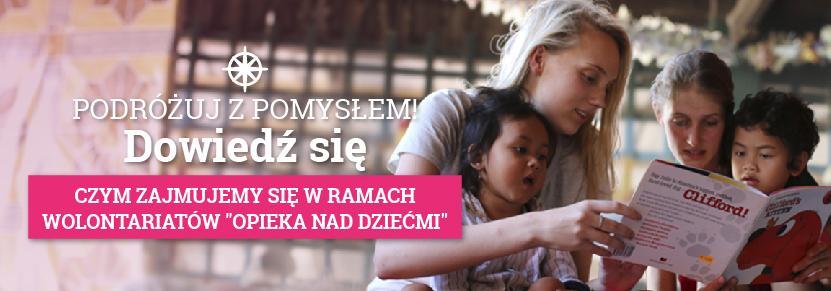 Wolontariat za granicą z dziećmi niesie pomoc najmłodszym członkom społeczności