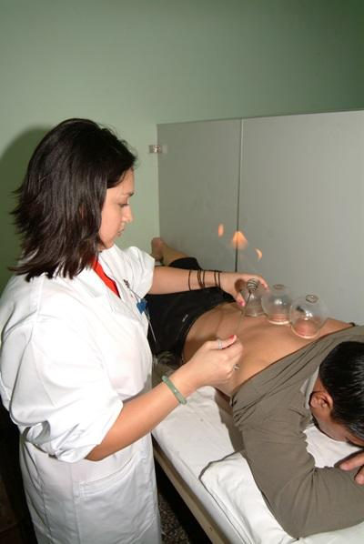 Volunteer on a Medical Electives in China Performs Traditional Medicine on Patient