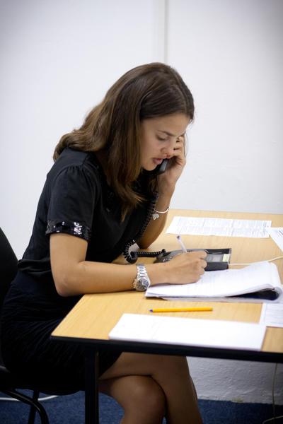 Wolontariuszka podczas rozwiązywania swojej sprawy, RPA