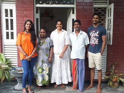 A Projects Abroad Sri Lankan host family